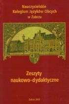 Nauczycielskie Kolegium j.obcych w Zabrzu(zeszyt naukowo-dydaktyczny