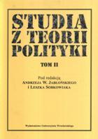 Studia z teorii polityki t.II