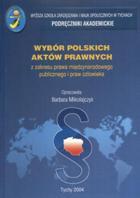 Wybór polskich aktów prawnych